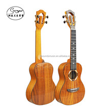 wholesale 2A quality High-gloss 24 inches solid KOA wood top custom concert ukulele guitar