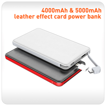 Slim Power Bank 4000mah portable charger external Battery 5000mah mobile phone charger