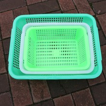 cheap Rectangle plastic Fruit storage basket