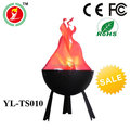 top quality LED light,artificial flame light table lamp,flick fire LED pit