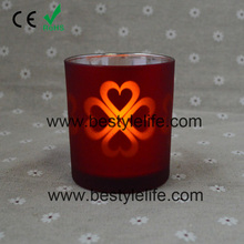 Holiday LED candle with Electroplating glass holder