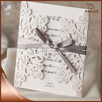 Wedding card white lace style hot sale