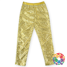 Latest Design Baby Girls Gold Leggings,New Fashion Kids Jogging Legging Pants Wholesale Children Formal Yoga Sport Pants