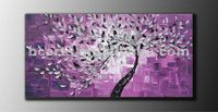 Handmade Contemporary Blossom Thick Texture Gallery Fine Abstract Tree Oil Painting for room