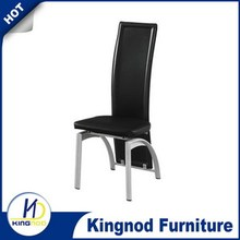 PU dining chairs with powder coated legs Dining chairs made in malaysia