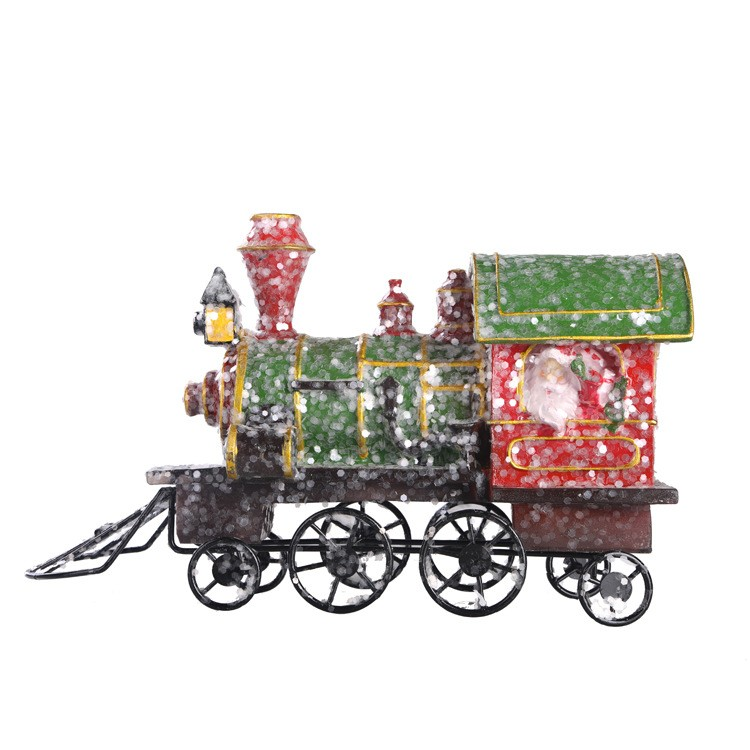 hot selling exclusive christmas decor elegant outdoor christmas train for shop decorations
