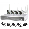 Outdoor P2P Surveillance 4CH Wireless WIFI NVR camera kit/ 720P HD Mobile surveillance 4ch security system