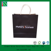 2015 Printing kraft shopping bags with handles