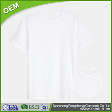 hunan manufacturer summer men short sleeve cotton plain white round neck t-shirt