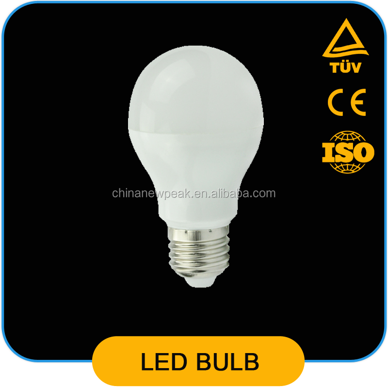 2015 new products newpeak A60 Open and bright lamps New led light Utility model 9W led light bulb