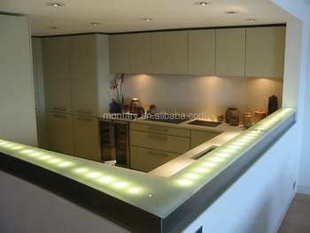 Jade Glass Table Backlit Onyx Glass Countertop For Modern Bar Counter