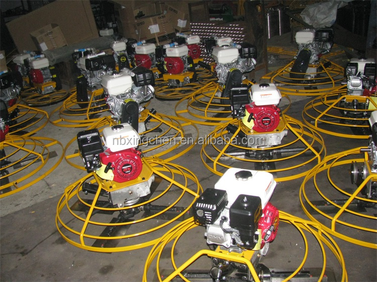 Factory directly supplier walk behind concrete power trowel machine for road building