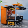 3 by 2 m metal food kiosk for selling sweet nuts used in outdoor for sale