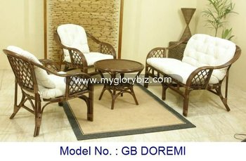 Cheap Modern Design Natural Rattan Furniture Set Sofa & Table, modern rattan sofa set, living room furniture contemporary