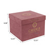 custom luxury new square gift packaging suede box