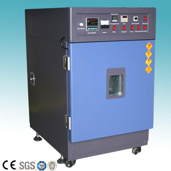 Small electric hot air circulation drying vacuum oven with vacuum pump