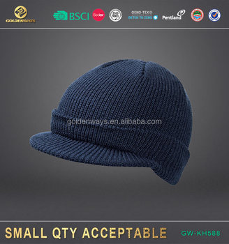 manufactory warm winter knit hat with led for wholesale with bsci