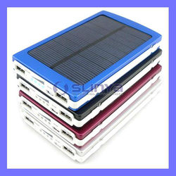 Emergency Outdoor Travel Battery 3A Tablet 5V Dual USB 10000mAh Solar Power Bank