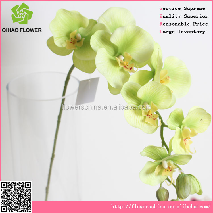 decorative artificial flower,silk artificial orchid flower for sale