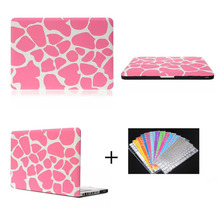 shenzhen company pink zebro pattern PC shell hard case for macbook pro 13.3' & 15.4' , for macbook pro computer cover