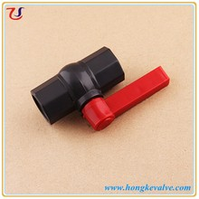 Red lever handle manual pvc ball valve