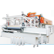 two meter three layers extruder PE film machinery plastic Stretch film making machine