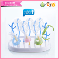 Factory wholesale food grade drainer drying rack for baby bottle