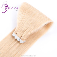 100% Brazilian Remy Human Hair blonde color Wholesale Skin Weft PU Tape hair