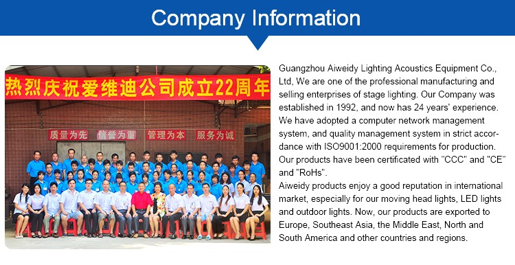Guangzhou Aiweidy Cheap in factory manufacturer battery led 54 3w par light