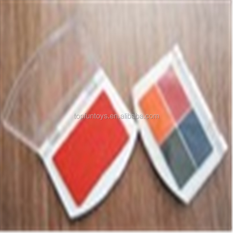 Rectangle 2 color stamp pad for rubber stamps
