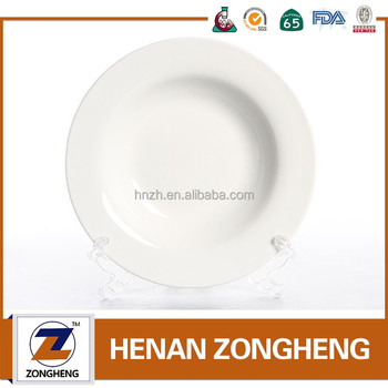 cheap bulk white ceramic dinner plates for restaurant