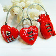 CH-015 3 digits heart shape combination padlock/heart gift lock