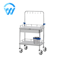 Stainless Steel Glass Infusion Bottle Trolley with Drawer