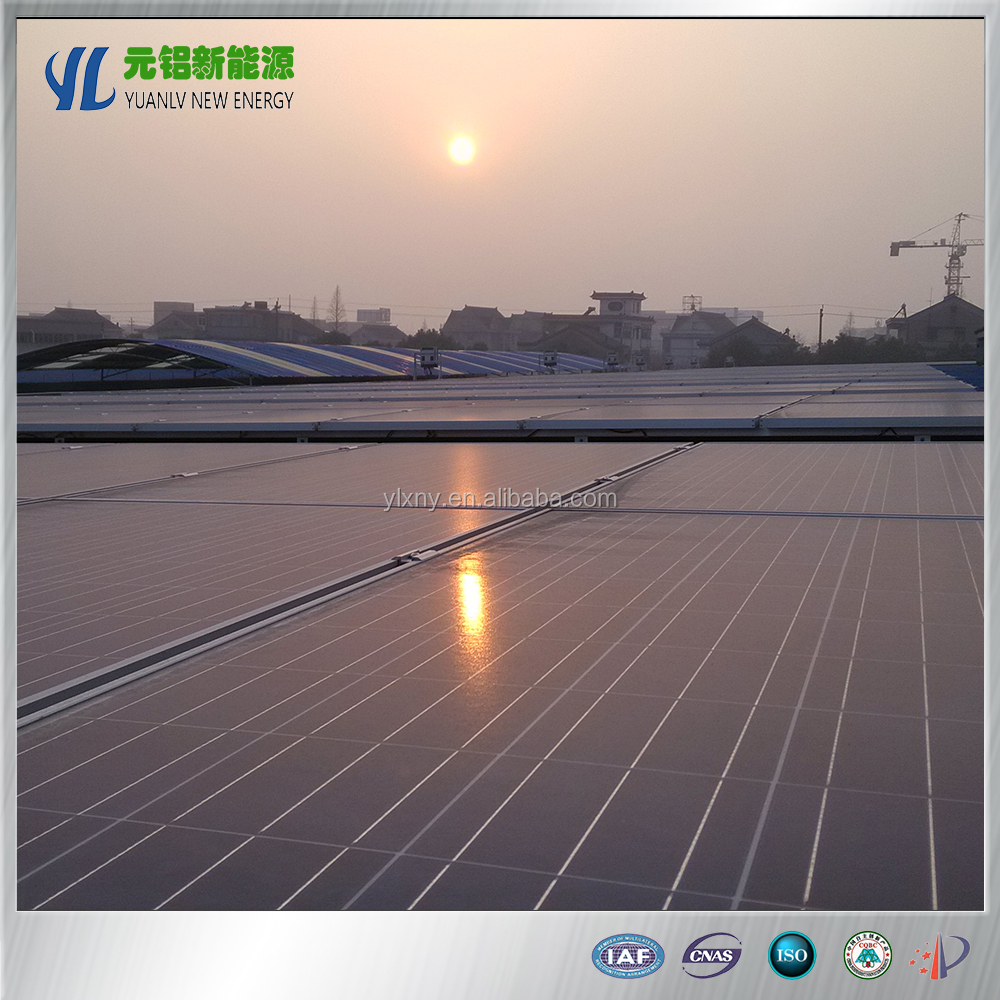 Yuanlv aluminum solar panel bracket for steel tile roof