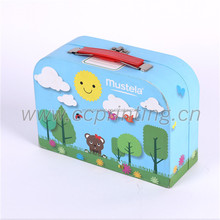 Custom Printing paper cardboard suitcase box with handle