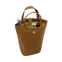 Cheap Pu Leather Wine Bottle Bags