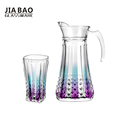 7pcs 1.5L eco friendly glass drinkware drinking water jug set
