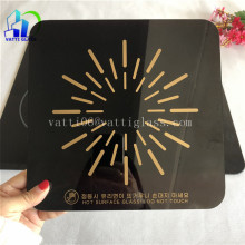 Black Ceramic Glass Cooktop Panel, Glass Cooktop Covers