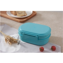 100% Food Grade Wheat Straw Plastic Lunch Box With Combination Lock