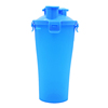 700 ml Promotional Advertising Gift Plastic 2 in 1 shaker cup Dual Sport Protein Shaker Bottle