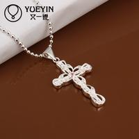 2014 bulk sale 925 silver plating cross jewelery