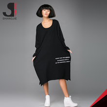 New Style Ladies Simple Fashion Long Dress With Open Fork