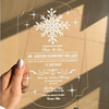 Clear Acrylic Wedding Invitation Card With