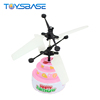 Happy Birthday Cake 2018 Unique Brithday Party Supplies Hot Sale Induction Flying Glowing Toy RC Helicopter China