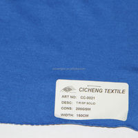 E high quality t/r spandex jersey heavy weight jersey fleece fabric poly cotton jersey knit fabric