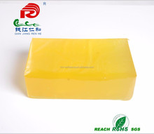 factory direct sale packaging adheisve glue big yellow cube glue applied with roller coating machine