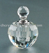 clear small crystal perfume bottle, glass crystal clear attar bottle MH-X0110