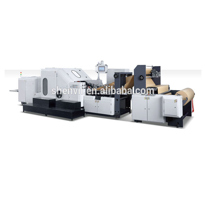 High Speed Square Bottom Paper Bag Making Machine with Handle SV-ZD290