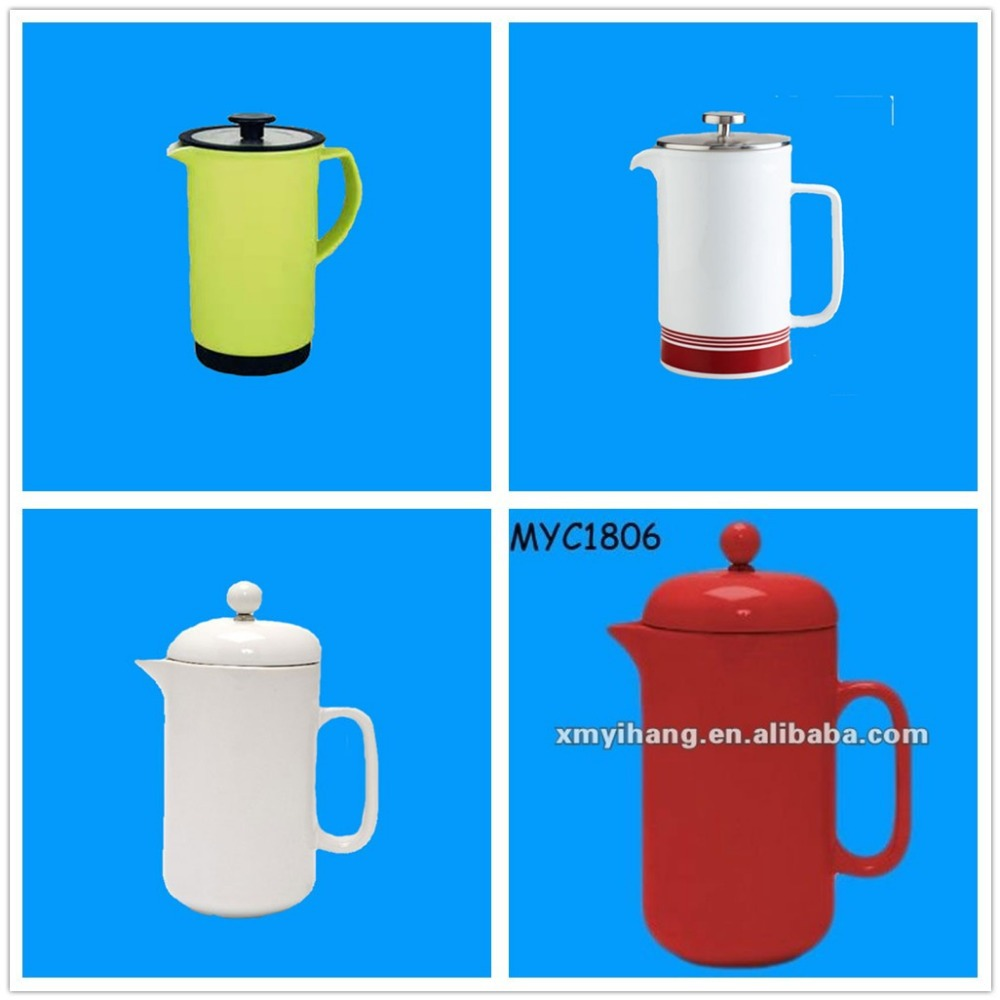 Ceramic wholesale antique novelty white promotional coffee press
