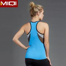 Fashion breathable mesh insert racer back tops urban sports wear